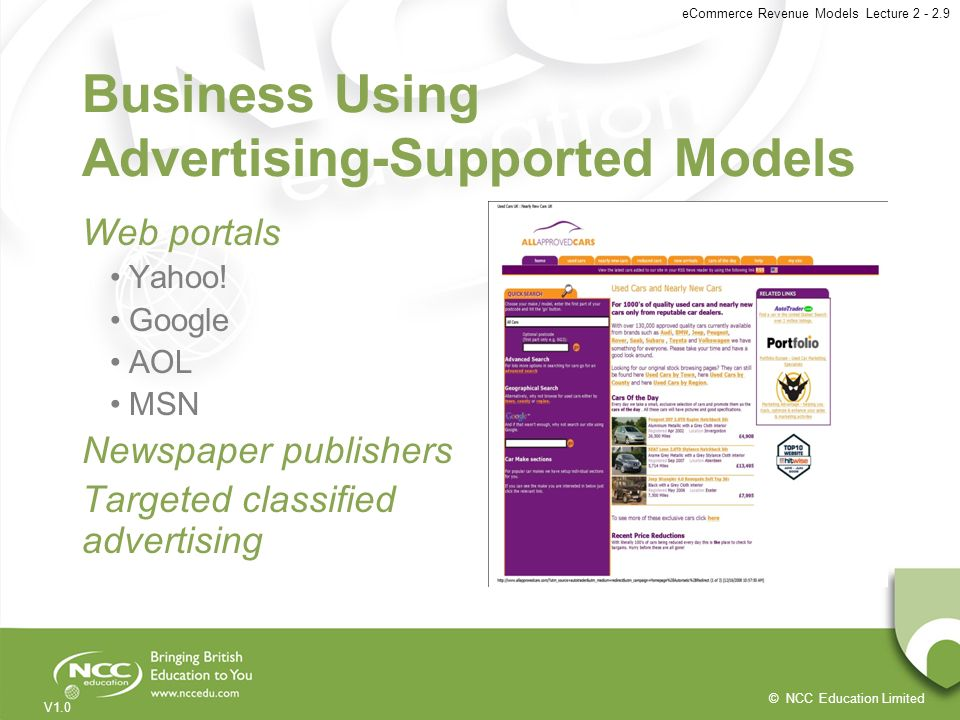 Business Using Advertising-Supported Models