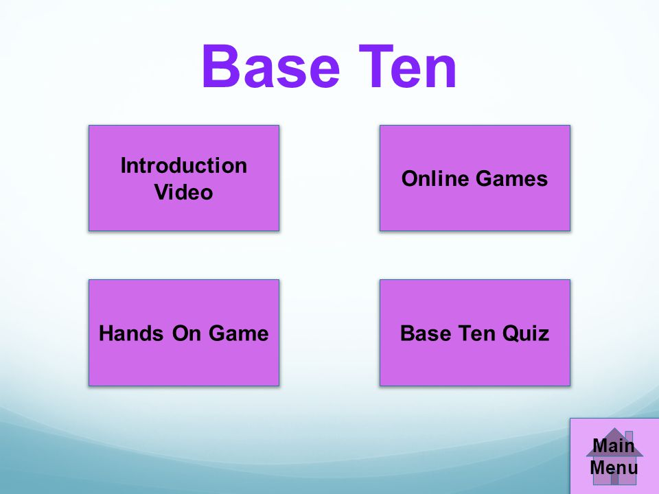 Base Ten Introduction Video Online Games Hands On Game Base Ten Quiz