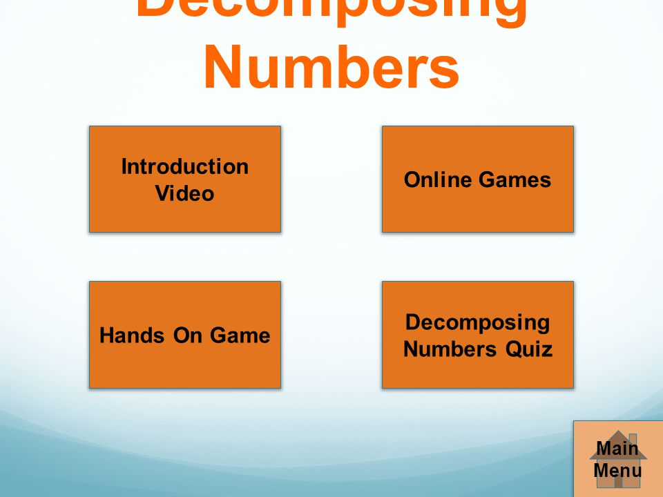 Decomposing Numbers Quiz