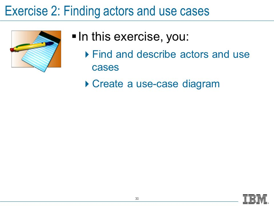 Exercise 2: Finding actors and use cases