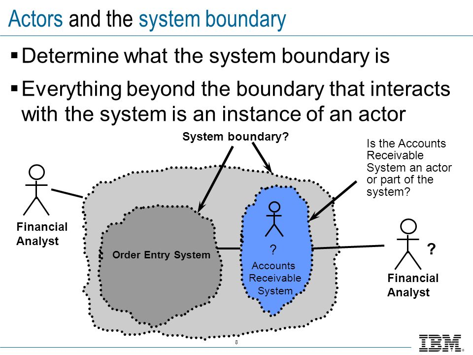 Actors and the system boundary