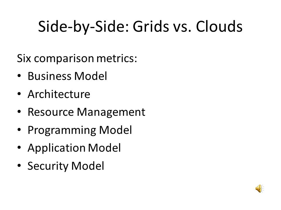 Side-by-Side: Grids vs. Clouds