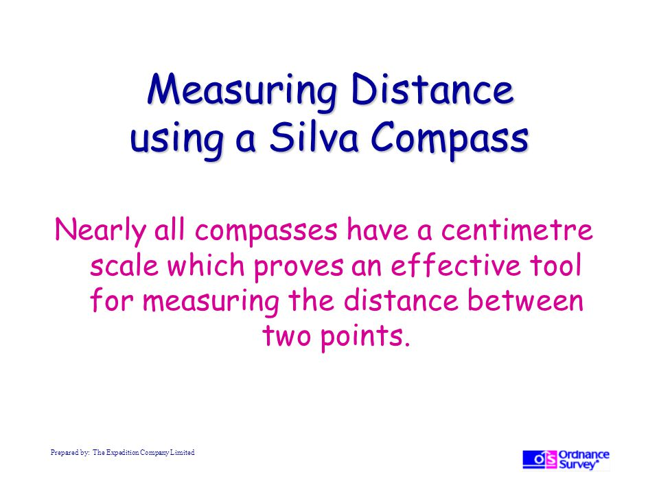Measuring Distance using a Silva Compass