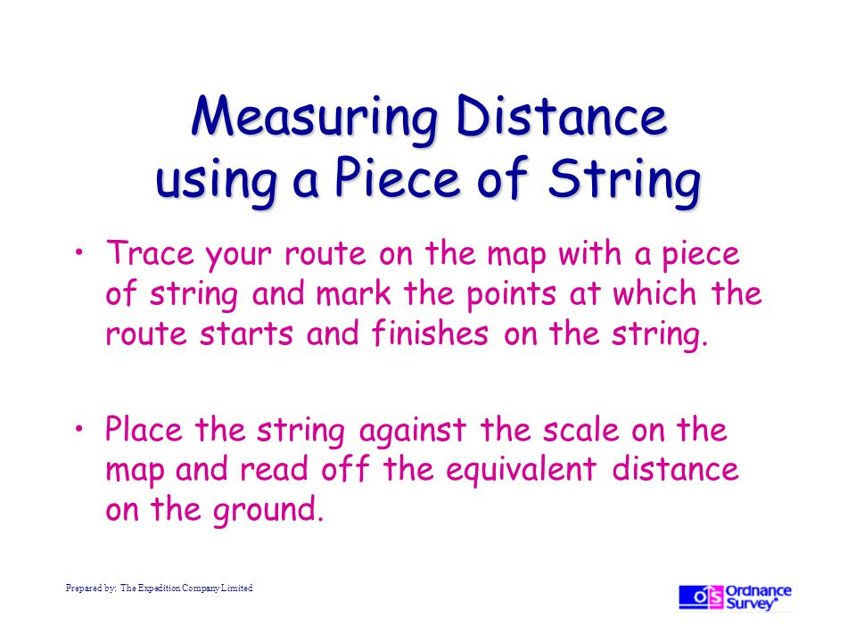 Measuring Distance using a Piece of String