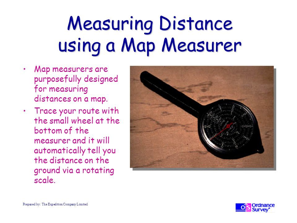 Measuring Distance using a Map Measurer