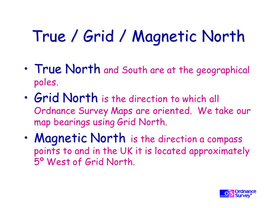True / Grid / Magnetic North