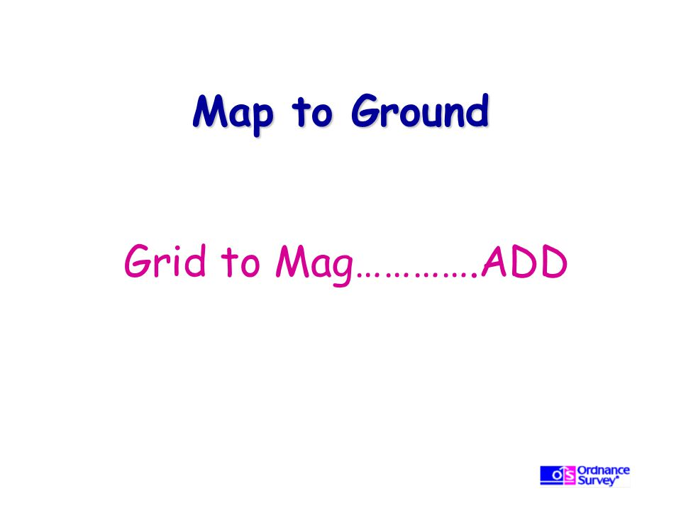 Map to Ground Grid to Mag………….ADD