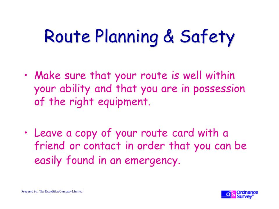 Route Planning & Safety