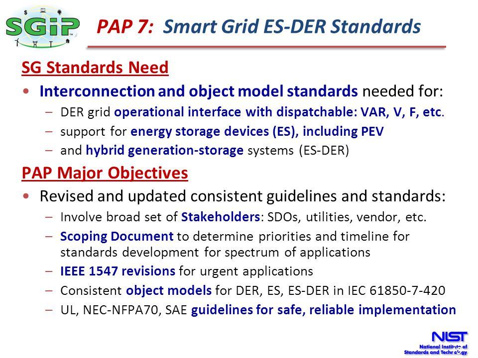 PAP 7: Smart Grid ES-DER Standards
