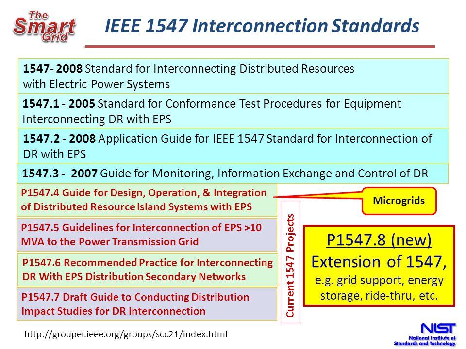 IEEE 1547 Interconnection Standards