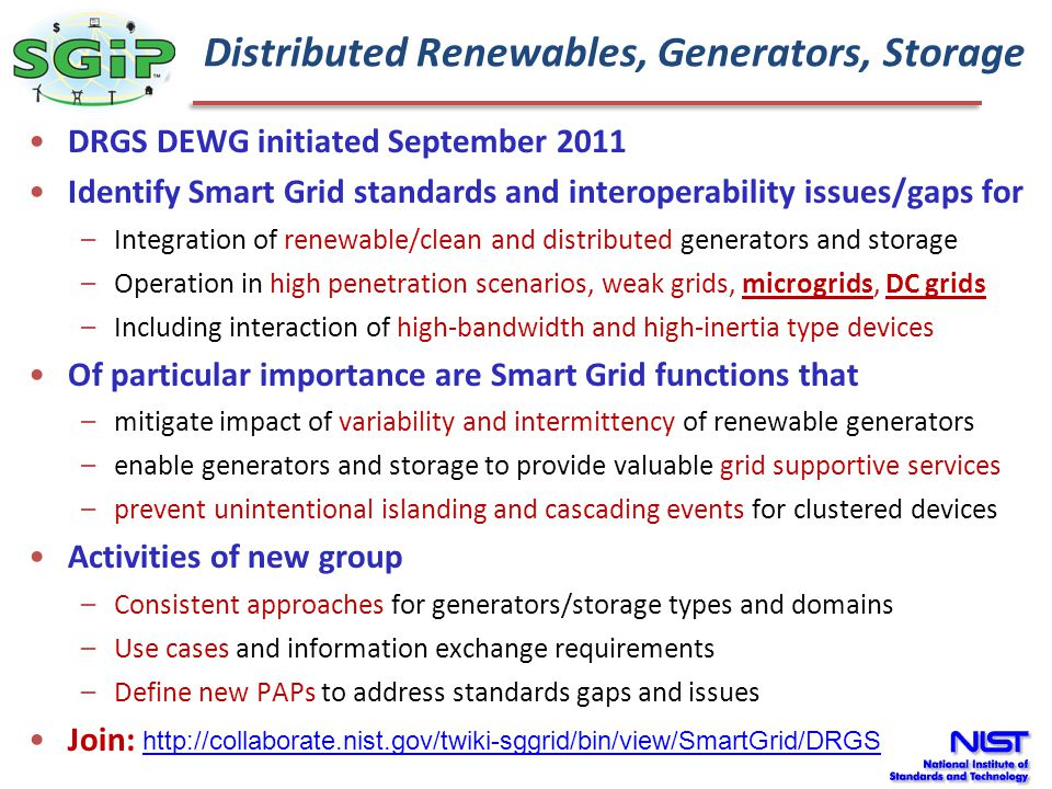 Distributed Renewables, Generators, Storage