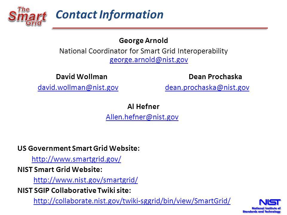 david.wollman@nist.gov dean.prochaska@nist.gov