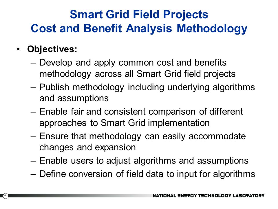 Smart Grid Field Projects Cost and Benefit Analysis Methodology