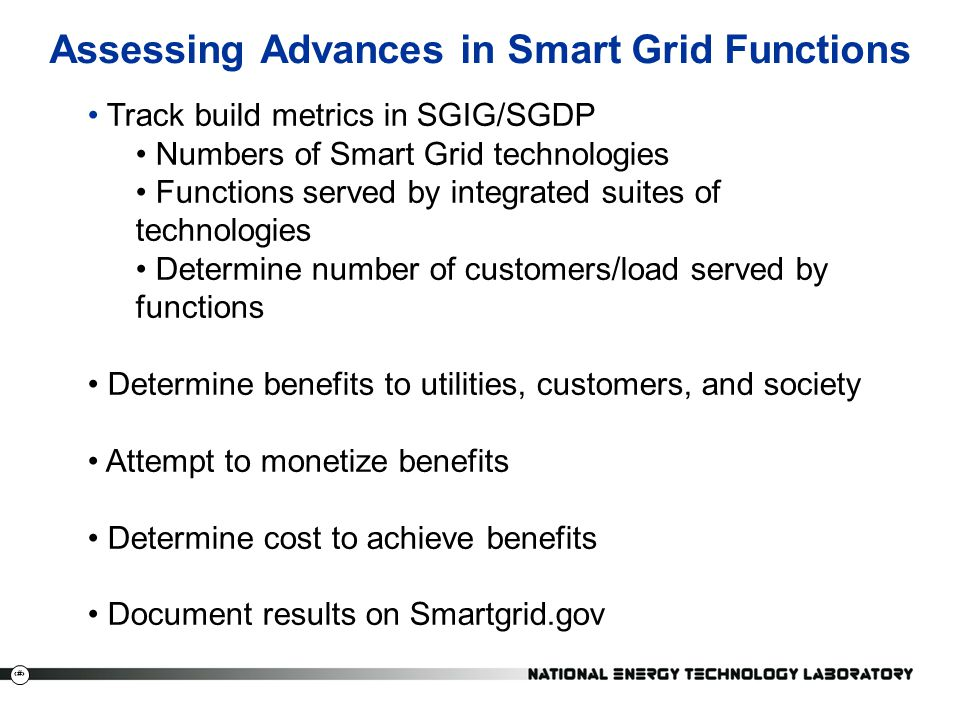 Assessing Advances in Smart Grid Functions