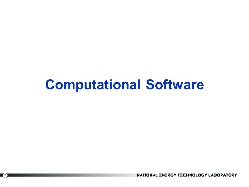 Computational Software