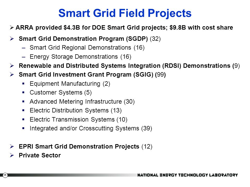 Smart Grid Field Projects