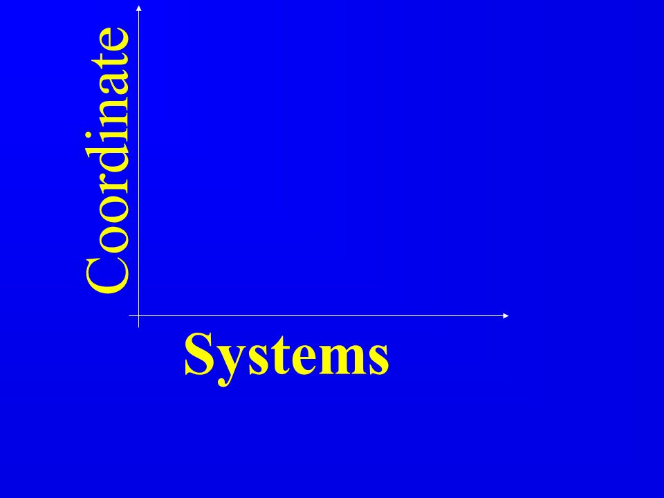 Coordinate Systems 1 1 1 1 1 1