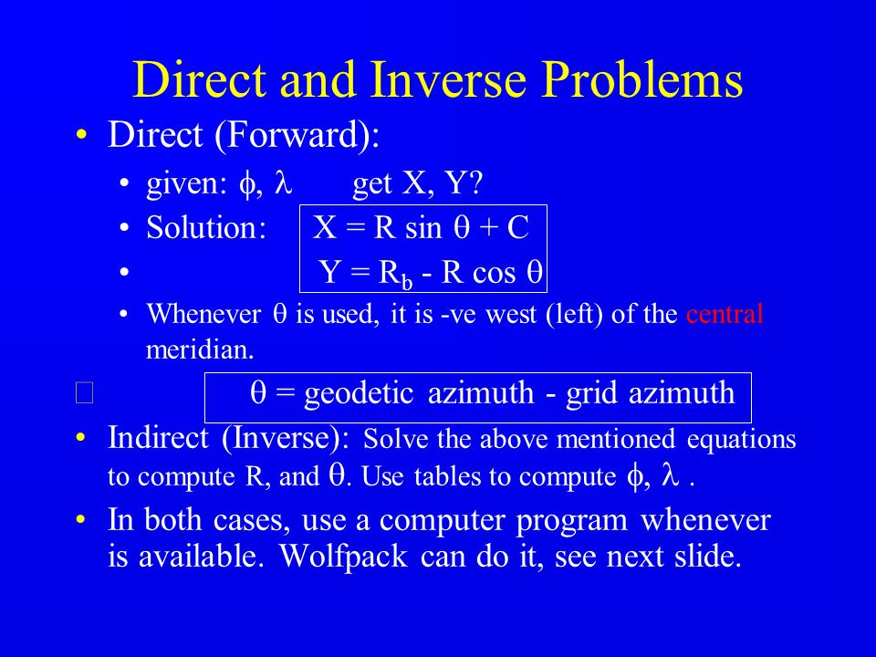 Direct and Inverse Problems