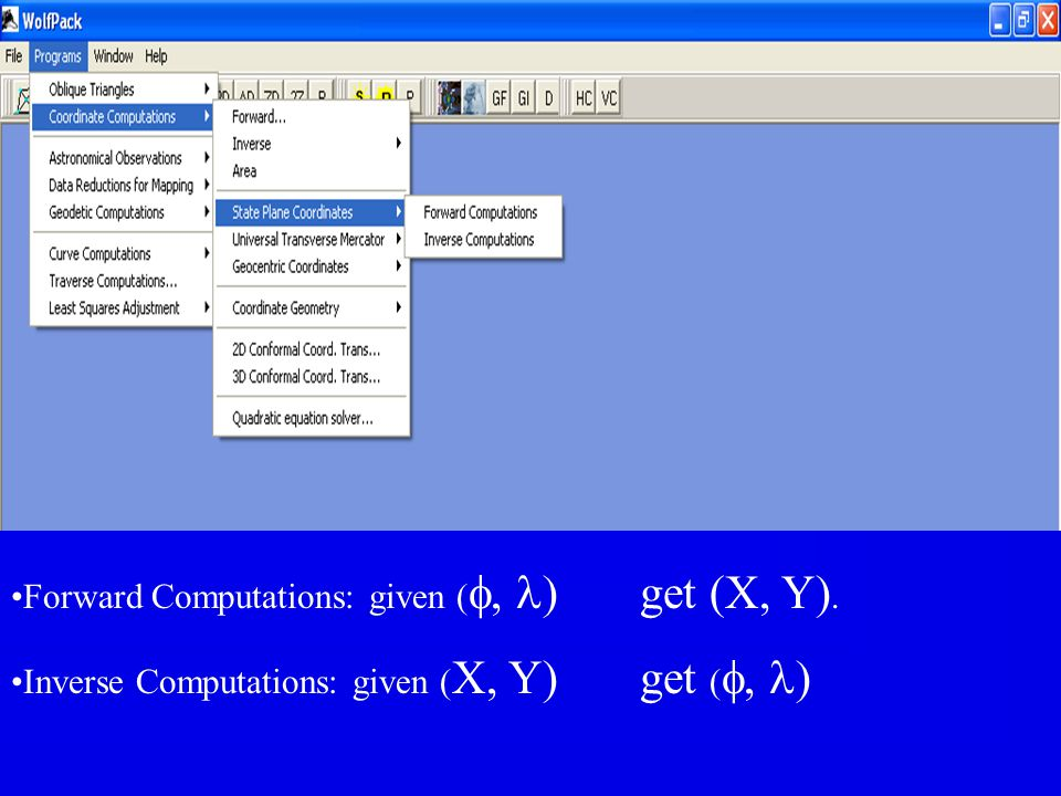 Forward Computations: given (f, l) get (X, Y).