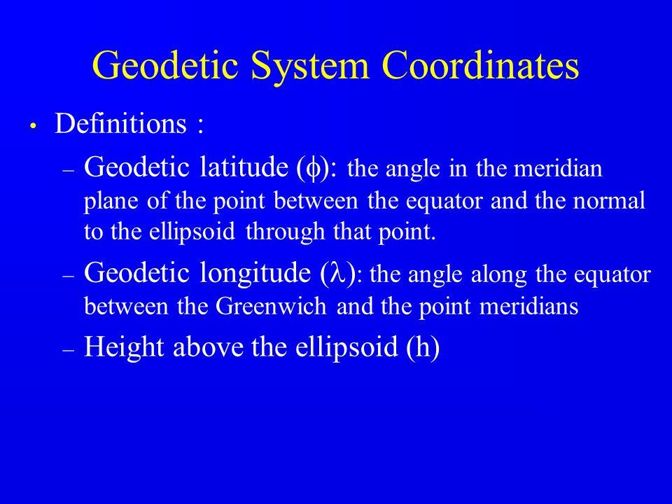 Geodetic System Coordinates