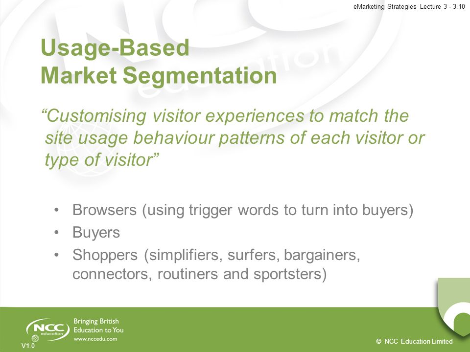 Usage-Based Market Segmentation