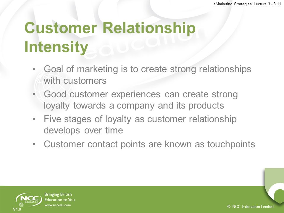 Customer Relationship Intensity