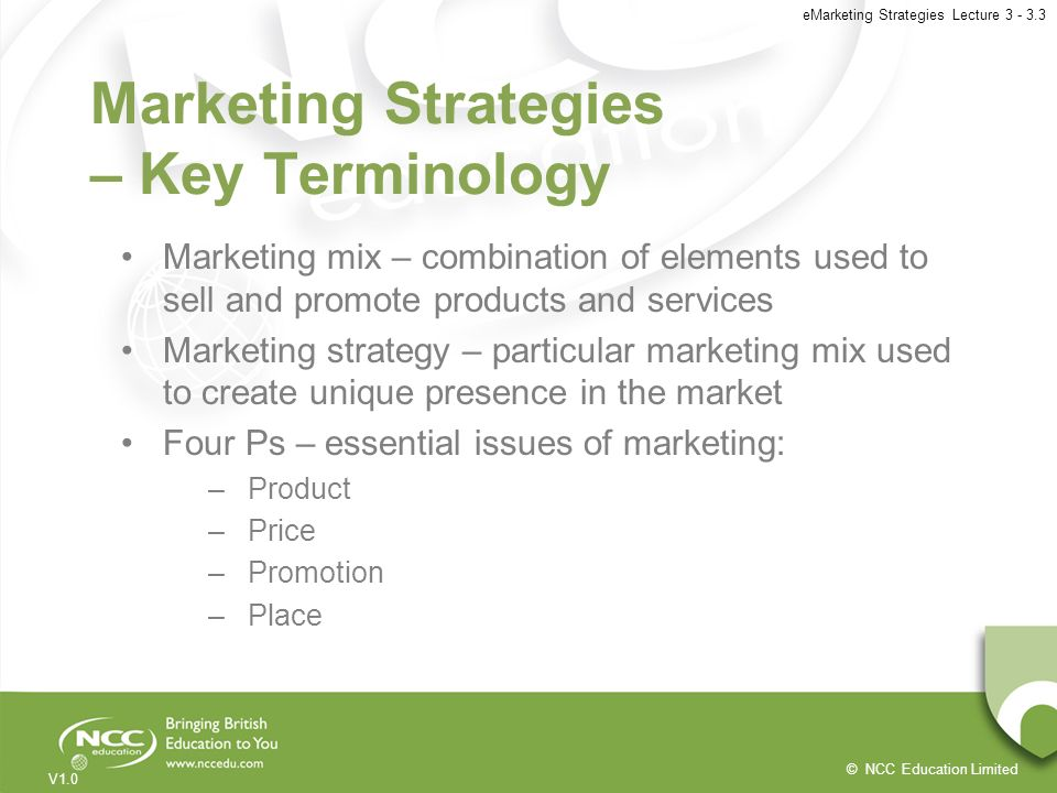 Marketing Strategies – Key Terminology