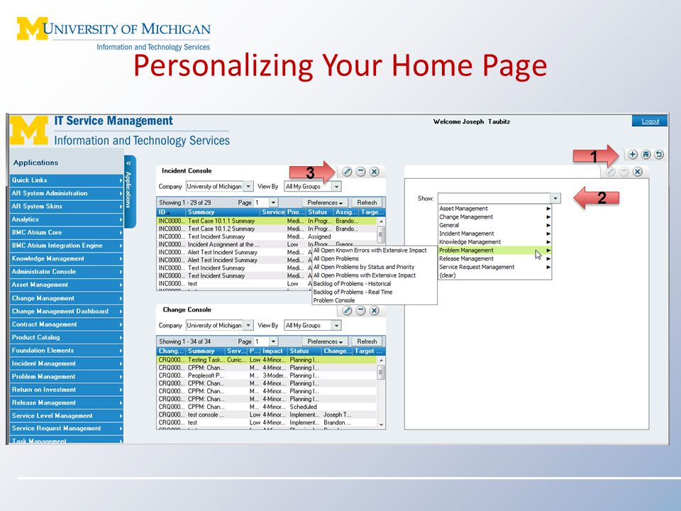 Personalizing Your Home Page