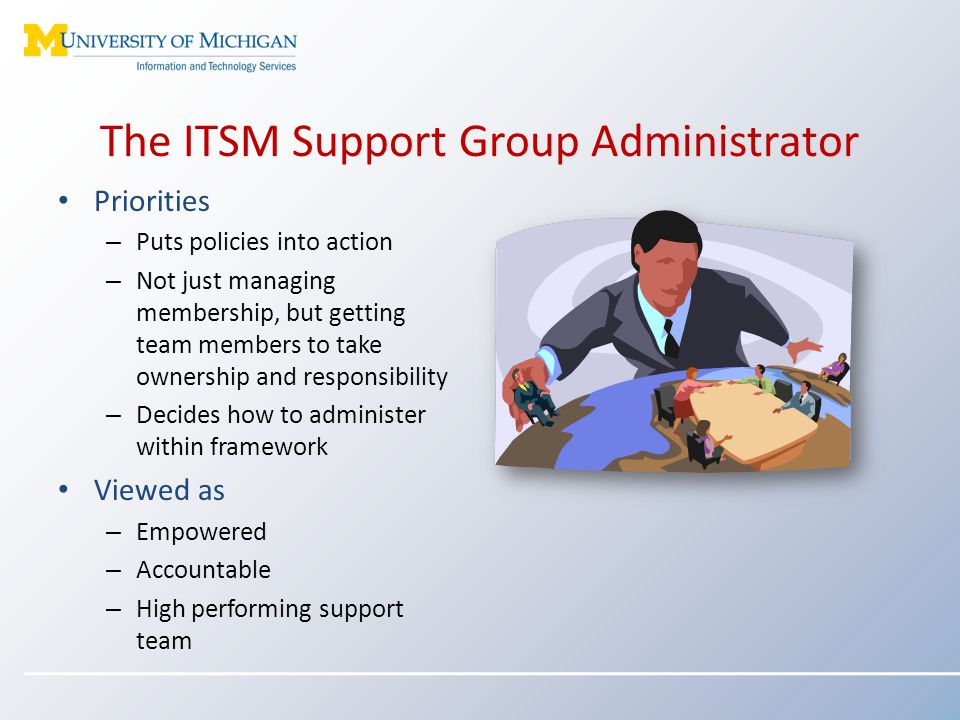 The ITSM Support Group Administrator