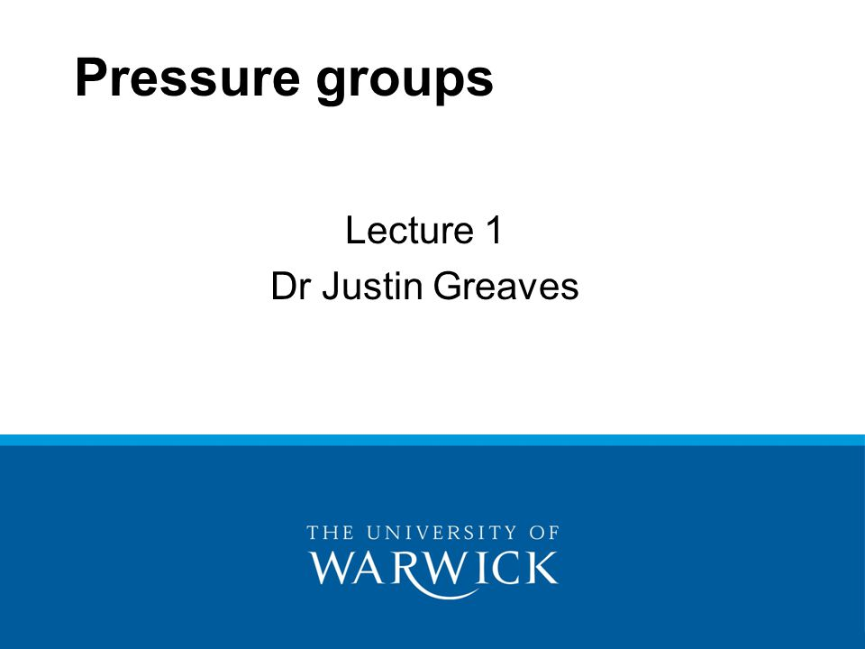 Lecture 1 Dr Justin Greaves