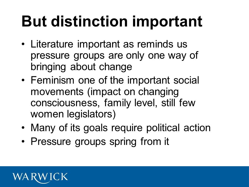 But distinction important