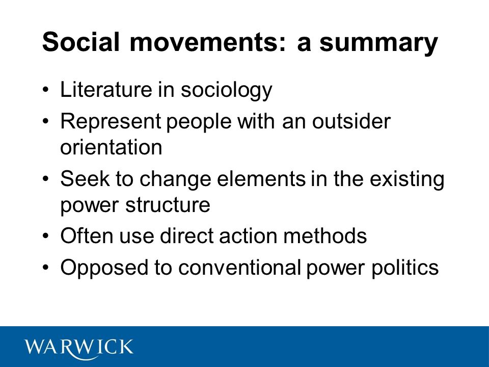 Social movements: a summary