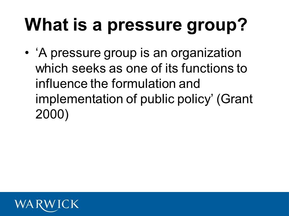 What is a pressure group
