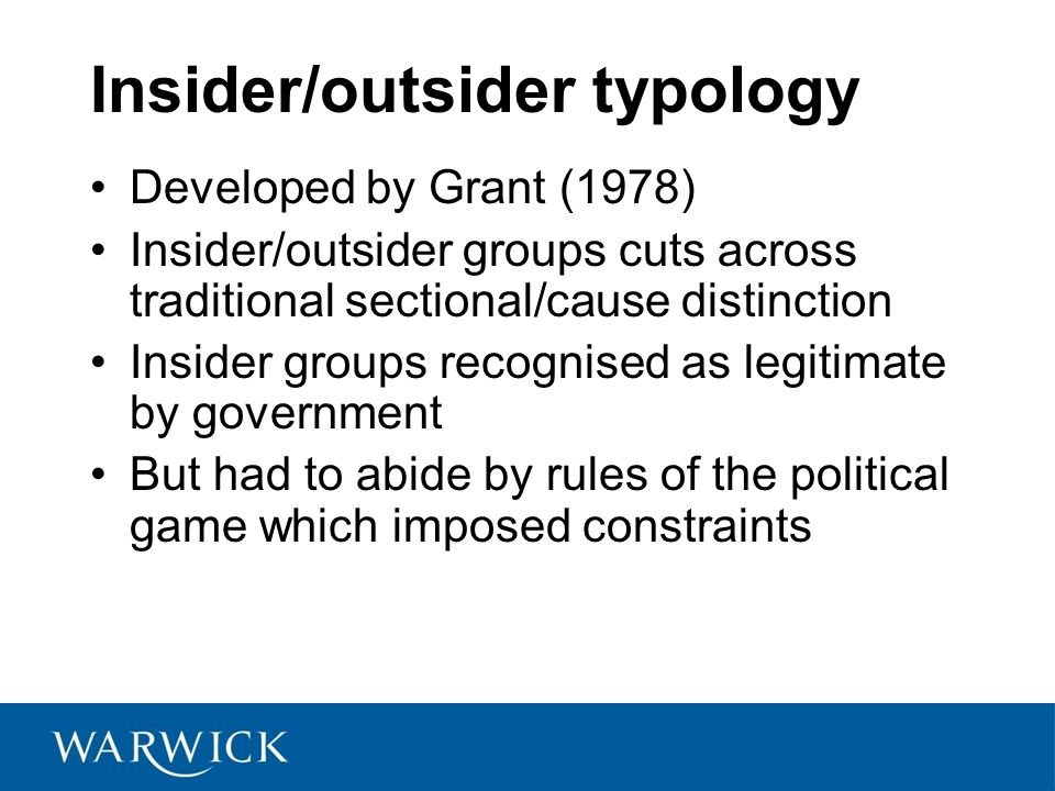 Insider/outsider typology
