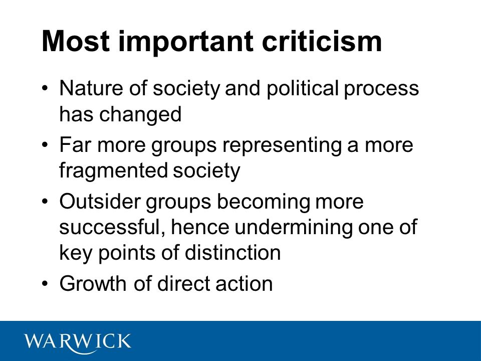 Most important criticism