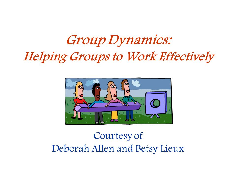 Helping Groups to Work Effectively