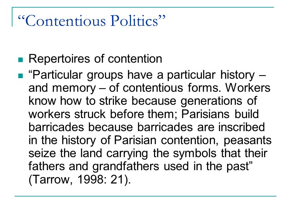 Contentious Politics