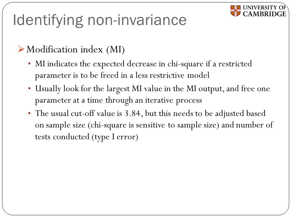 Identifying non-invariance