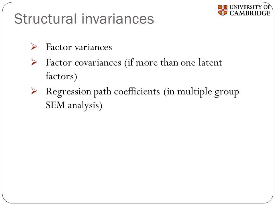 Structural invariances