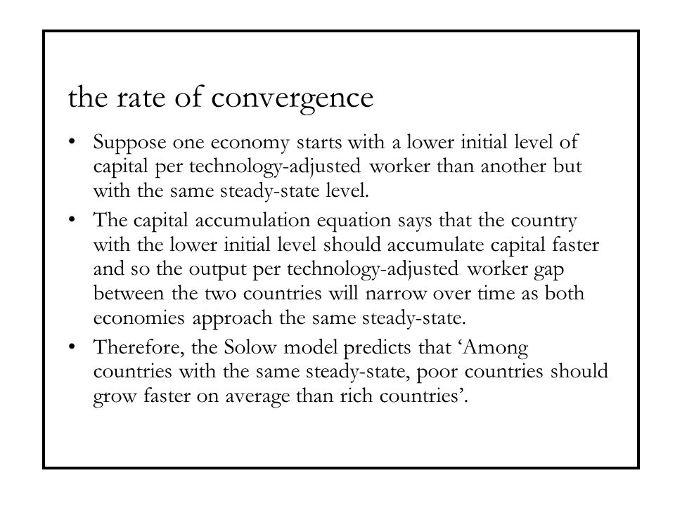 the rate of convergence