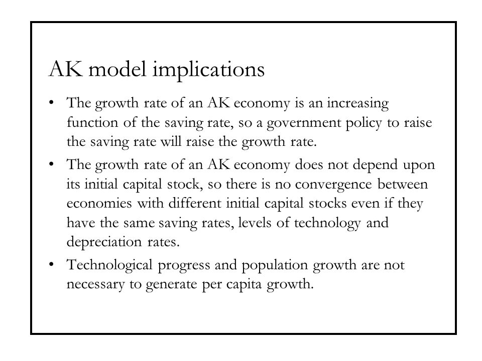 AK model implications