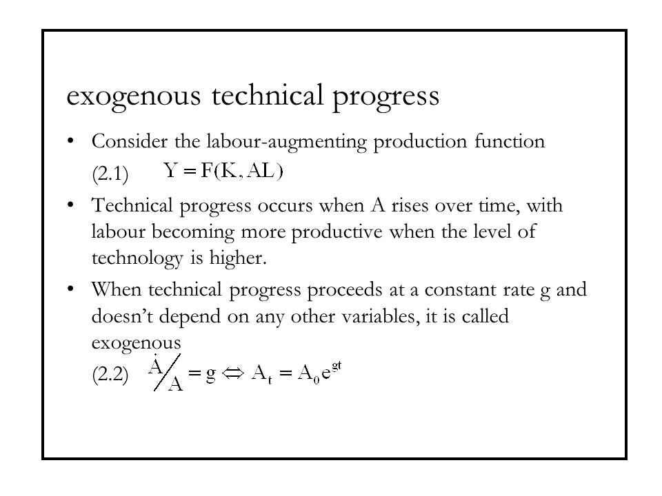 exogenous technical progress
