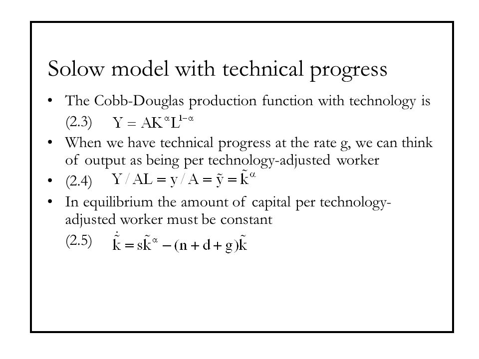 Solow model with technical progress