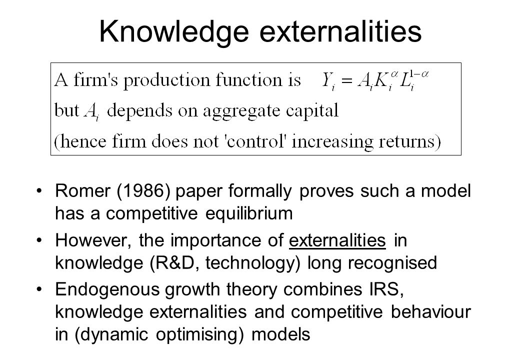the importance of externalities What are example of positive externalities update cancel  the neoclassical doctrine likes to diminish the importance of externalities but they are,.