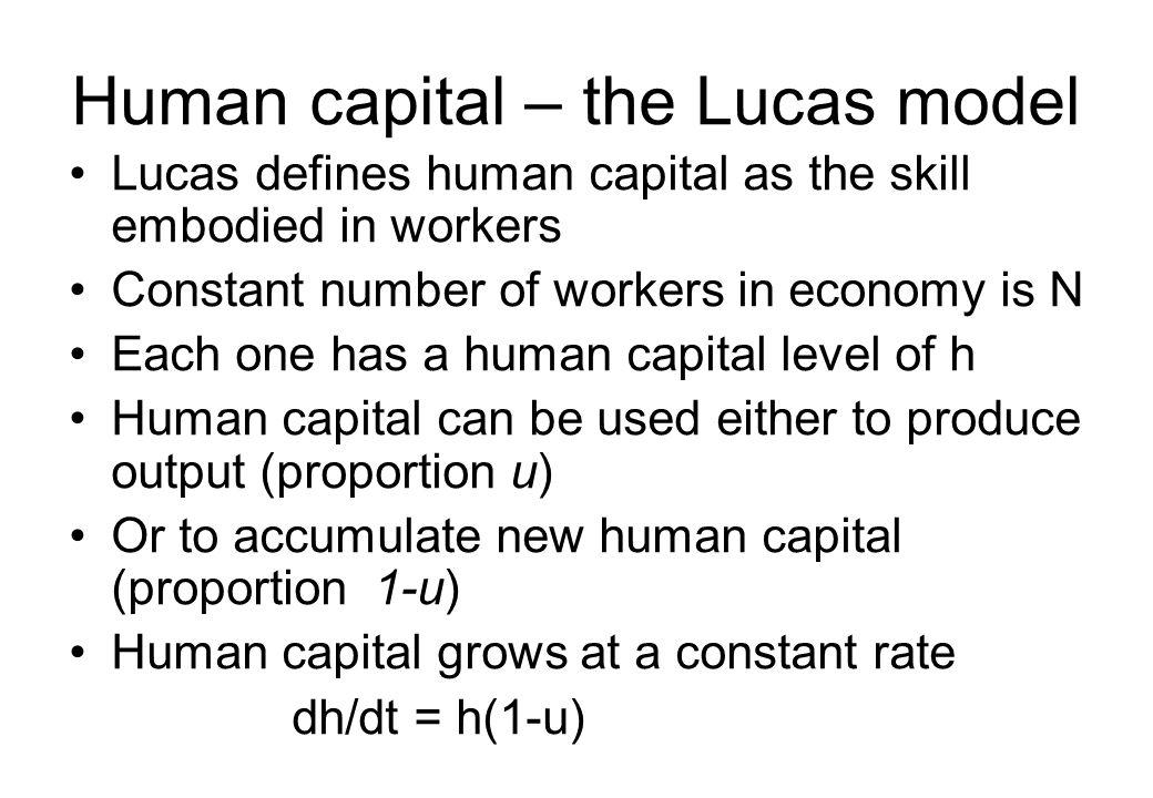 Human capital – the Lucas model