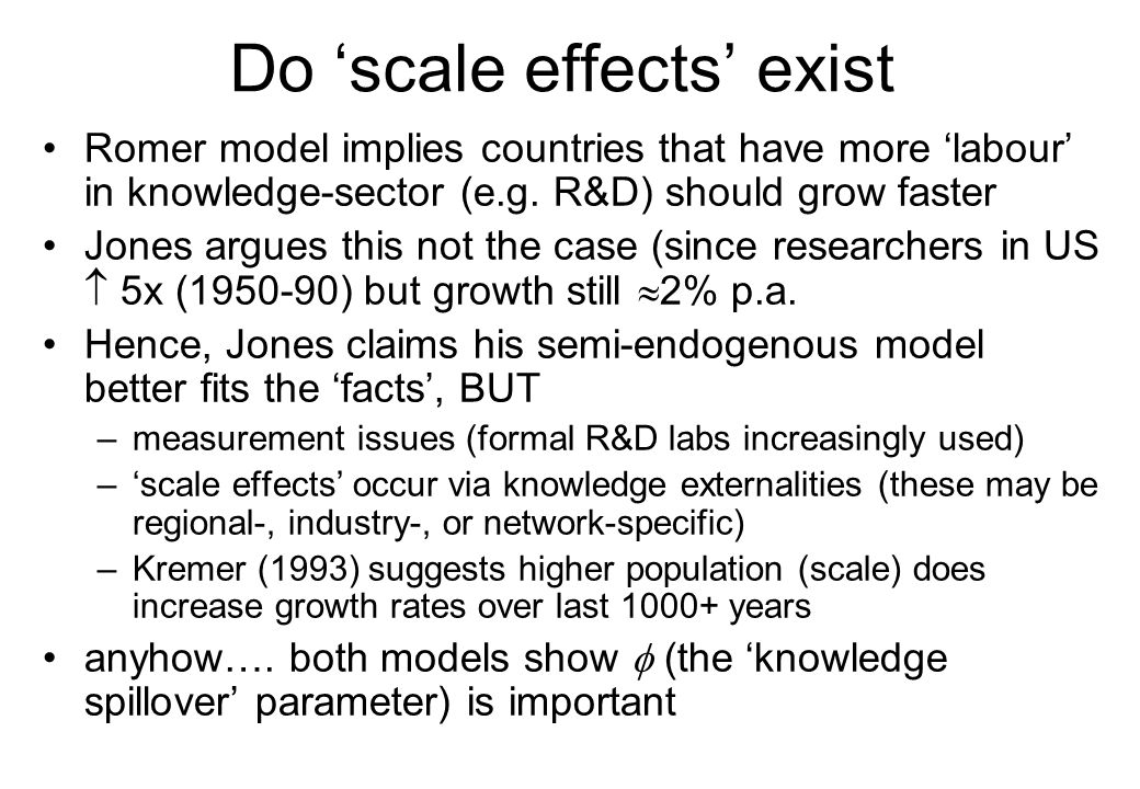 Do 'scale effects' exist