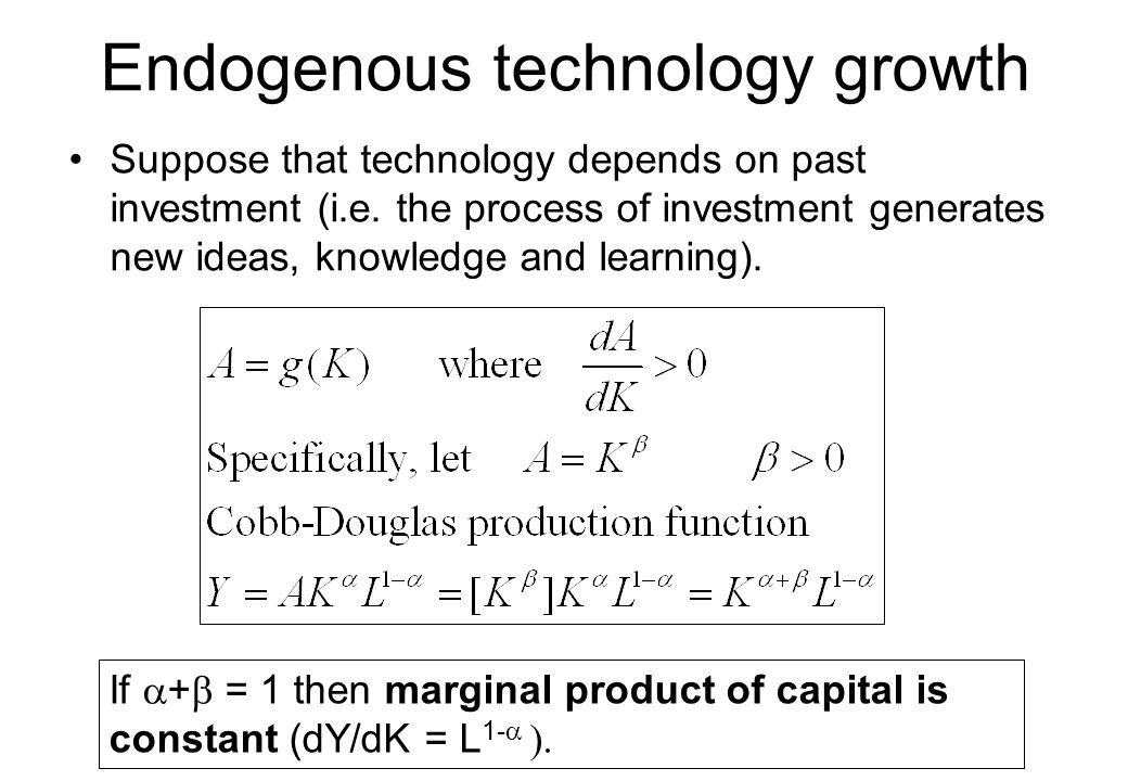 Endogenous technology growth