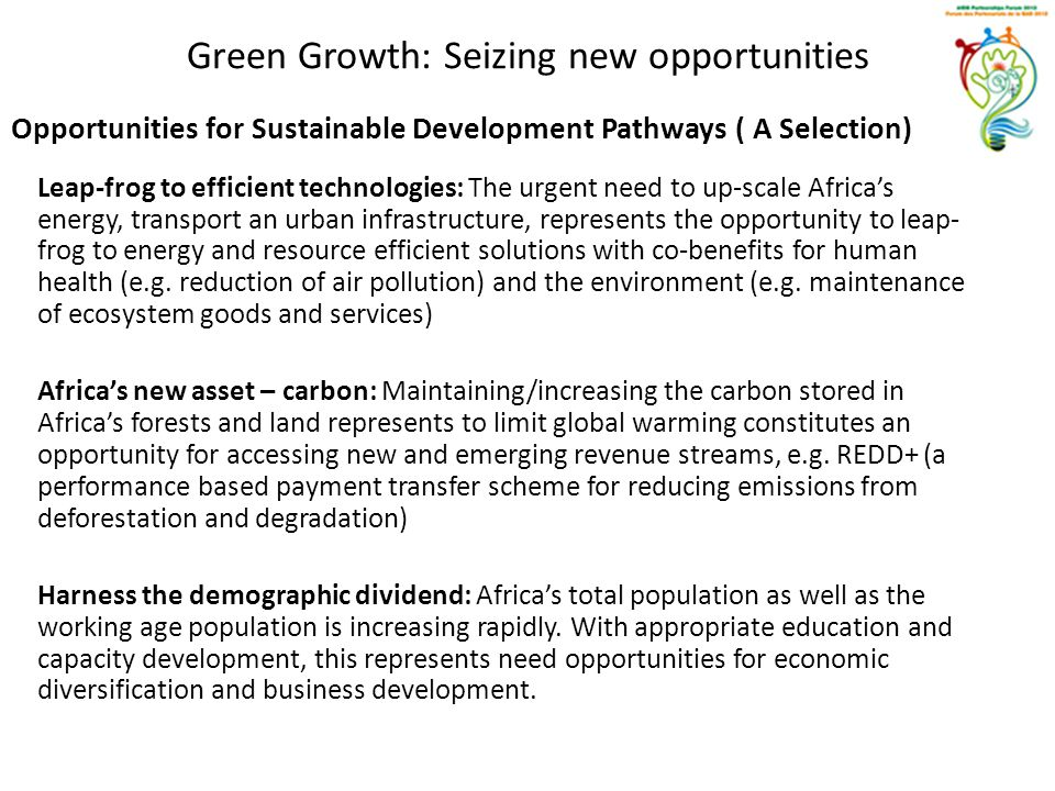 Green Growth: Seizing new opportunities