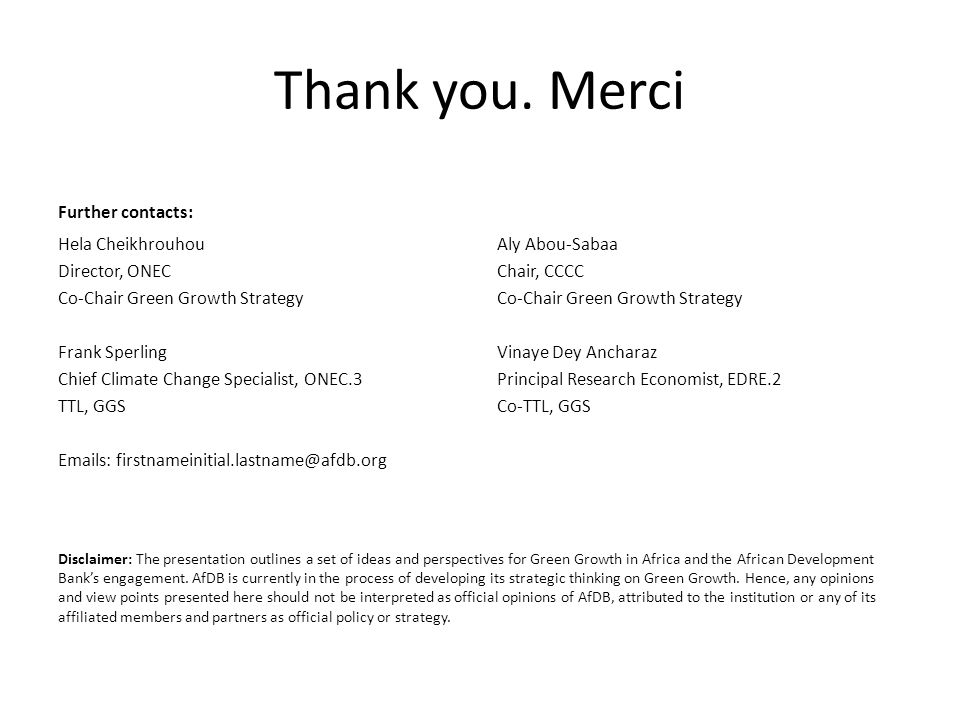 Thank you. Merci Further contacts: