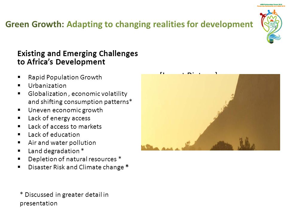 Green Growth: Adapting to changing realities for development